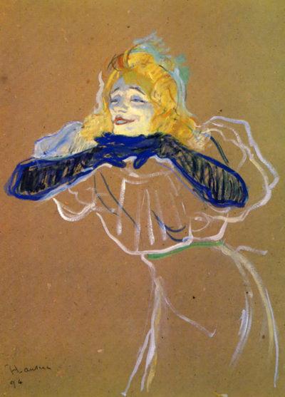 Henri de Toulouse-Lautrec Yvette Guilbert sings