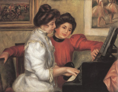 Pierre-Auguste Renoir Yvonne and Christine Lerolle at the piano
