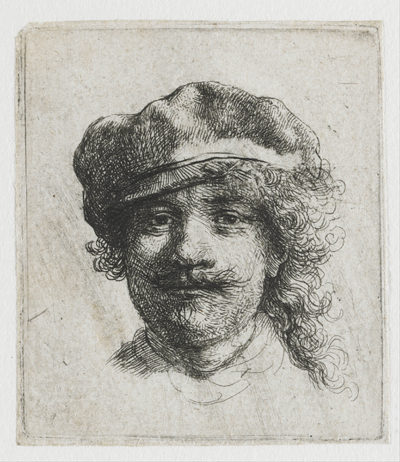 Rembrandt Harmensz. van Rijn Self-portrait with cap