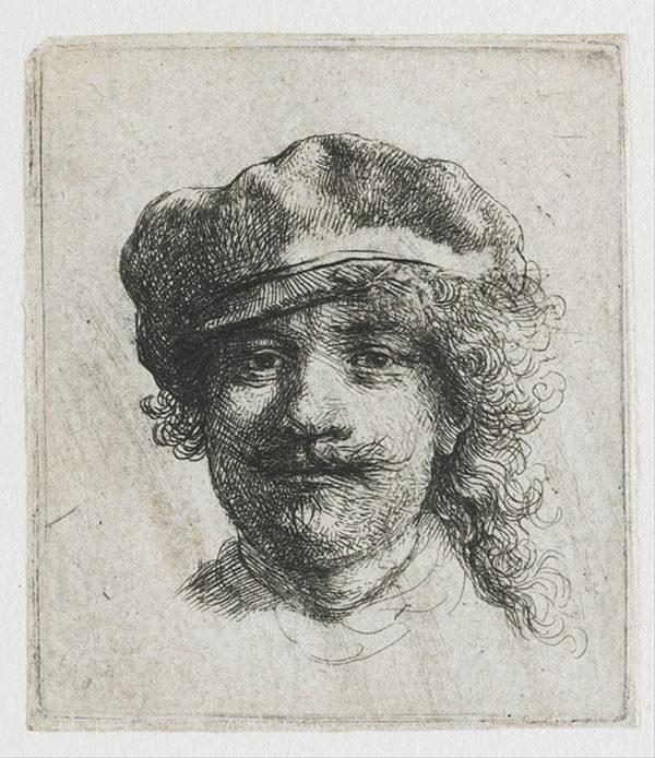 Rembrandt Harmensz. van Rijn Self-portrait with cap