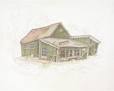 Jopie Huisman Groen huis met schuren