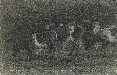 Jopie Huisman Koeien in de regen 1962