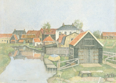 Jopie Huisman Vissershuisjes in Workum 1993