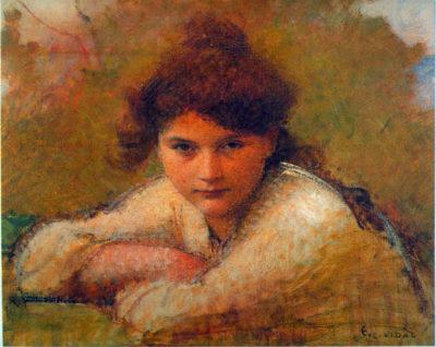 Eugene Vincent Vidal Girl resting on her arms