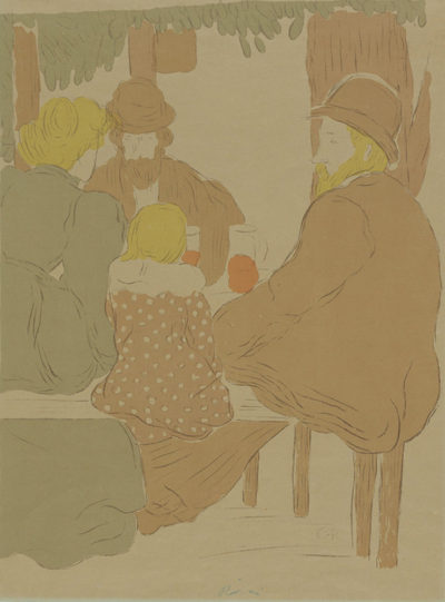 József Rippl-Rónai A Workman and his Family on Sunday (Famille d'artisans le dimanche)
