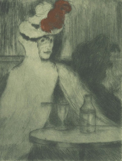 Henri Evenepoel Absinthe-Drinker (La buveuse d'absinthe)