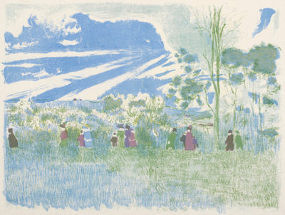 Edouard Vuillard Across the Fields (A travers champs)