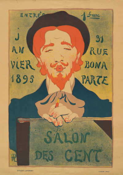 Hermann-Paul Poster for the 17th or 18th Exhibition of Salon des Cent at La Plume (Paris