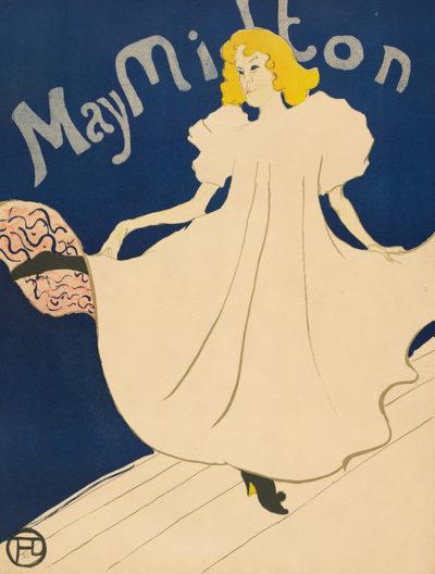 Henri de Toulouse-Lautrec Poster for the American tour of May Milton