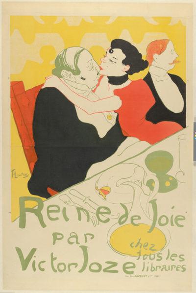 Henri de Toulouse-Lautrec Poster for the novel Reine de joie