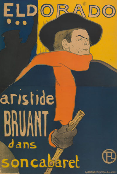 Henri de Toulouse-Lautrec Poster for the performance of Aristide Bruant in the Café-concert Eldorado