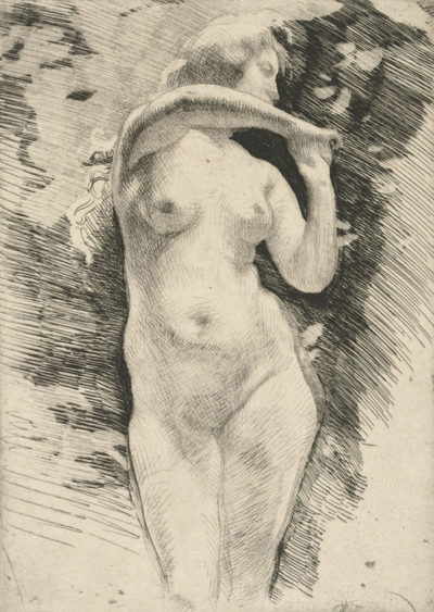 Albert Besnard Ariane (Ariadne) from the journal Le Centaure (vol. II)