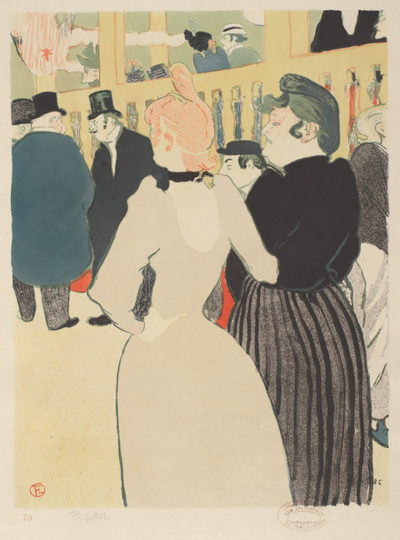 Henri de Toulouse-Lautrec At the Moulin rouge: La Goulue and her Sister (Au Moulin rouge: La Goulue et sa sœur)