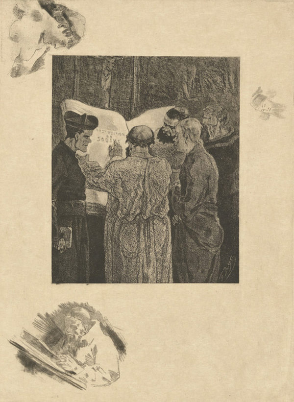 Félicien Rops At the Trappists (Chez les Trappistes)