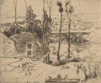 Norbert Goeneutte Auvers-sur-Oise Seen from Chaponval (Auvers-sur-Oise vu depuis Chaponval)
