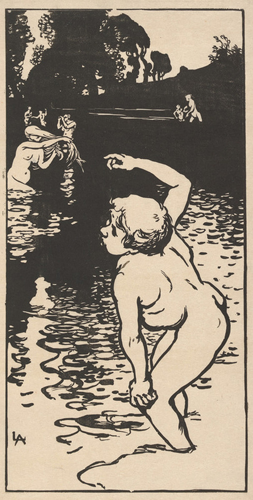 Auguste Lepère Bathing