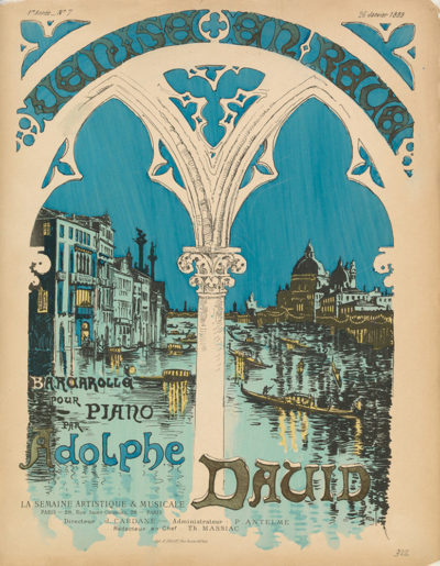 Théophile Alexandre Steinlen Sheet music Venise en rêve by Adolphe David