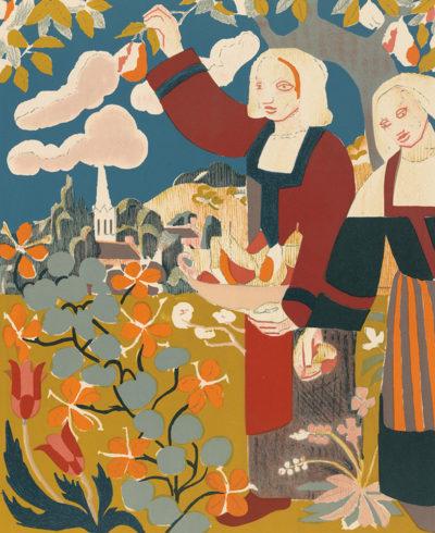 Émile Bernard Breton Women in an Orchard