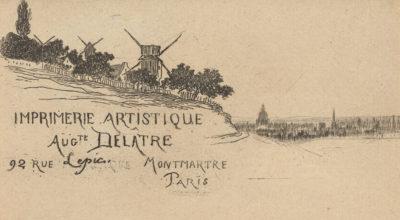 Auguste Delâtre Card Auguste Delâtre
