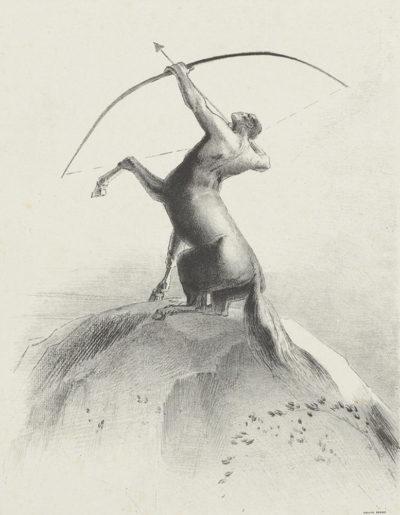 Odilon Redon Centaur Aiming at the Clouds (Centaure visant les nues)