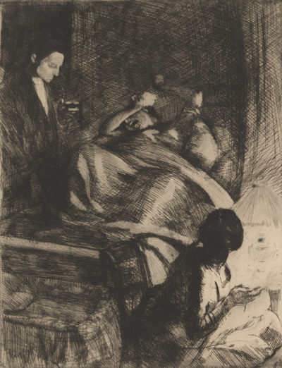 Albert Besnard Childbirth (L'accouchement)