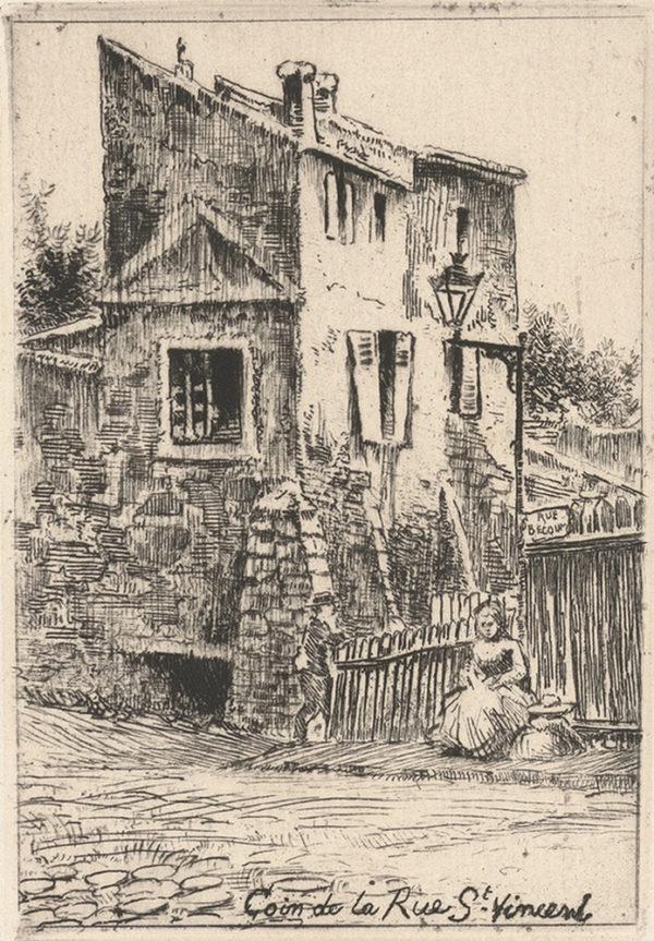 Eugène Delâtre Corner of the Rue Saint-Vincent (Coin de la rue Saint-Vincent)