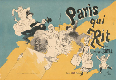 Jules Chéret Cover for the book Paris qui rit by Georges Duval