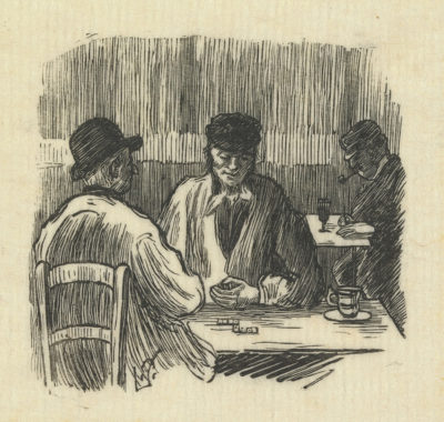 Lucien Pissarro A Game of Dominoes (La partie de domino)