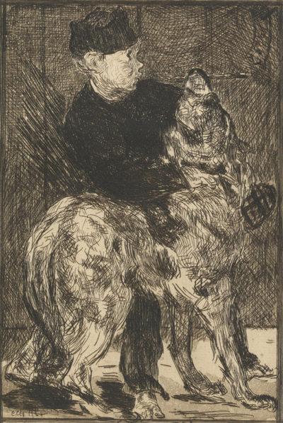 Edouard Manet The Boy with a Dog (Le garçon et le chien)