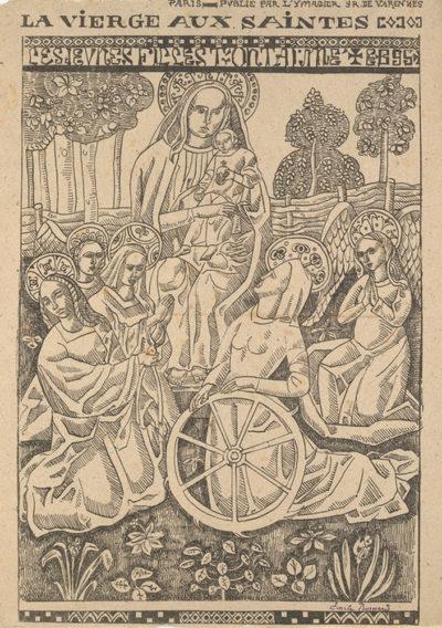 Émile Bernard Virgin with Female Saints (La Vierge aux saintes) from the journal L'Ymagier (July 1895)