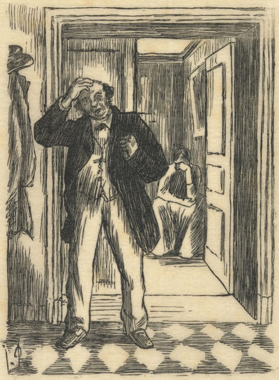 Lucien Pissarro Quarrel (La dispute)