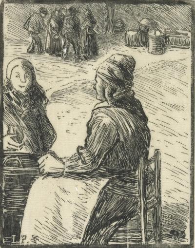 Camille Pissarro Woman Selling Chestnuts (La marchande de marrons)