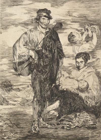 Edouard Manet The Gypsies (Les gitanos)
