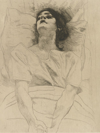 Albert Besnard Deceased Woman (La morte)