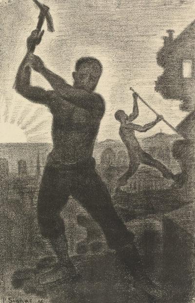 Paul Signac Demolishers (Les démolisseurs) from the album L'Album de lithographies des Temps nouveaux