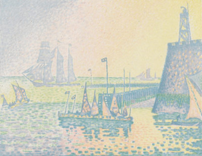 Paul Signac Evening (The Jetty of Vlissingen) (Abend (La jetée de Flessingue)) from the journal Pan (31 July 1898)