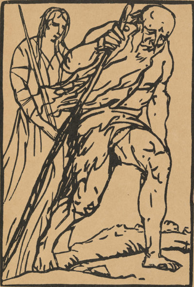 Émile Bernard Frontispiece of the artists' book Le Juif errant by Émile Bernard