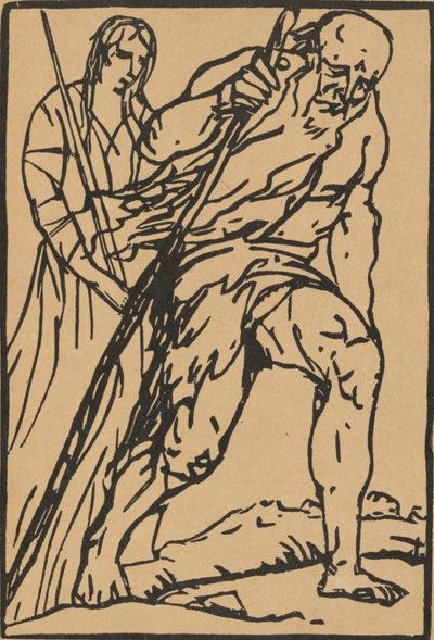 Émile Bernard Frontispiece of the artists' book Le Juif errant by Émile Bernard