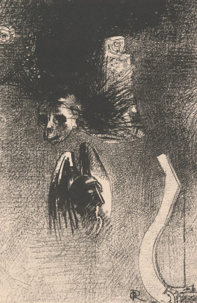 Odilon Redon Frontispiece of the book La damnation de l'artiste by Iwan Gilkin