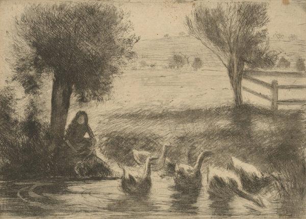 Camille Pissarro Goose-girl (Gardeuse d'oies)