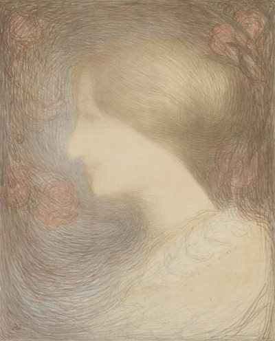 Edmond Aman-Jean Head of a Woman (Tête de femme)