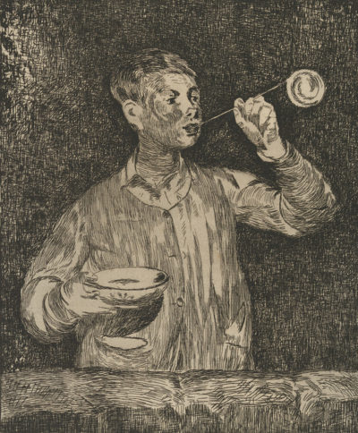 Edouard Manet Child Blowing Bubbles (L'enfant aux bulles de savon)