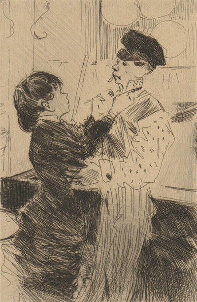 Jean Louis Forain Knotting the Tie (Le noeud de cravate)