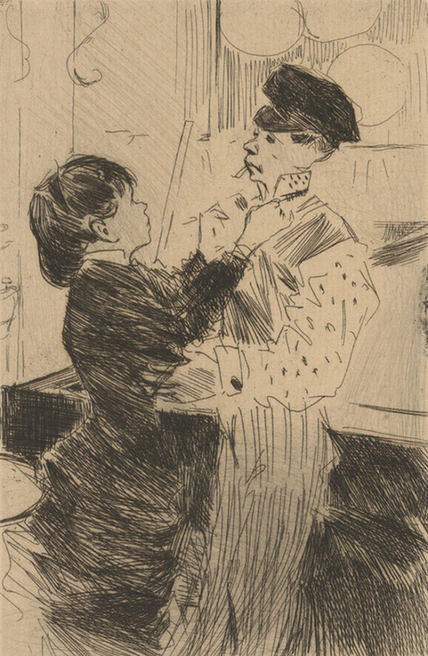 Jean Louis Forain Knotting the Tie (Le noeud de cravate)