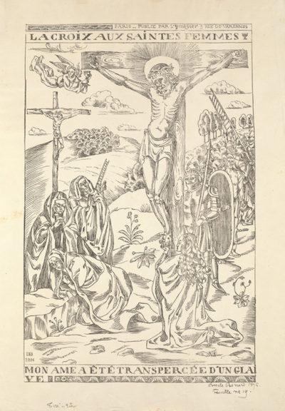 Émile Bernard The Cross with Female Saints (La croix aux saintes femmes)