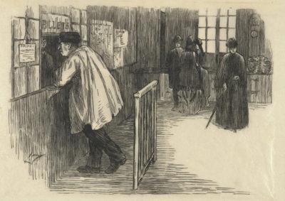 Albert Besnard Station (La gare)