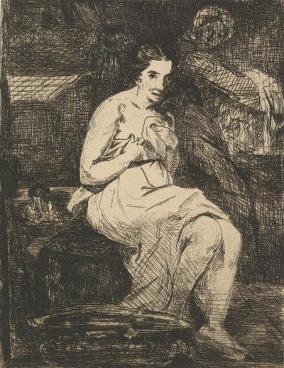 Edouard Manet Women at her Toilet (La toilette)