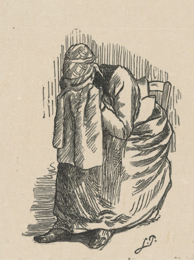 Lucien Pissarro Crying Woman