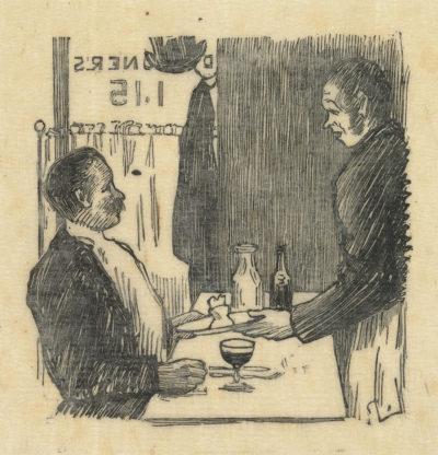 Lucien Pissarro At the Restaurant (Au restaurant)