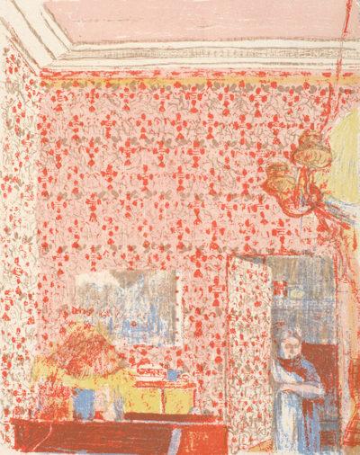 Edouard Vuillard Interior with Pink Wallpaper I (Intérieur aux tentures roses I)